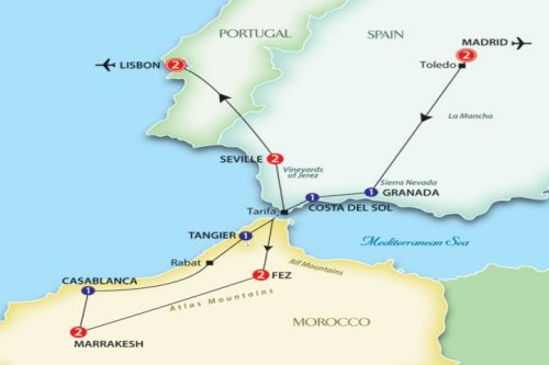 Map Of Spain Morocco And Portugal.Pat Howard Stenzel Family Website Photos Travel Genealogy