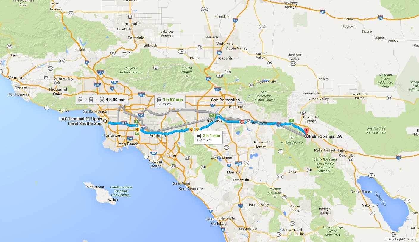 how to get to lax from palm springs